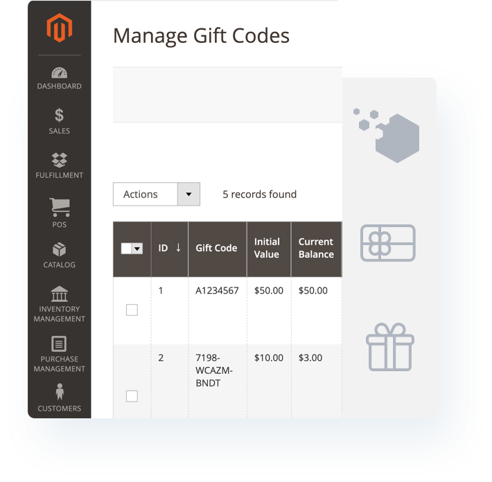 Common gift for the holidays with gift cards