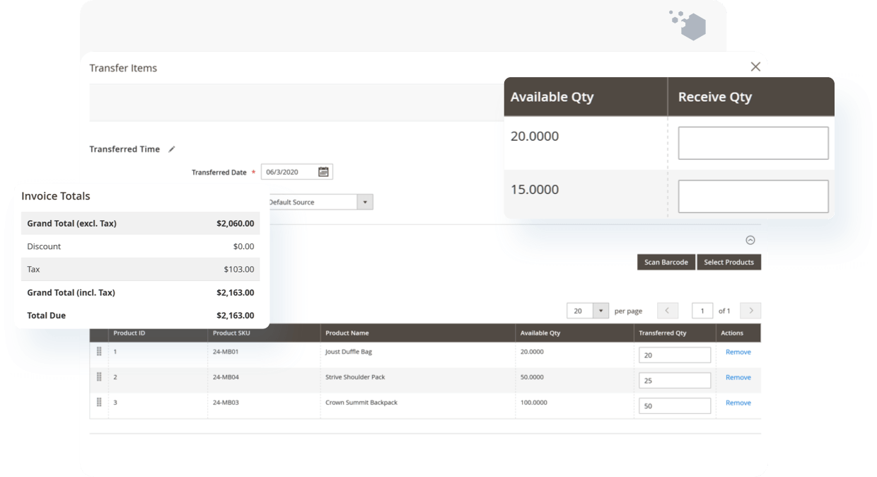 Receive Magento Purchase Order